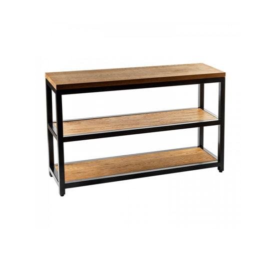 Solid wood loft shoe rack sa06