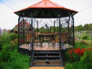 order a simple gazebo in the garden 02
