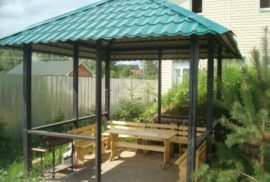 order a simple gazebo in the garden