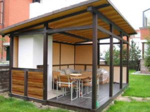 wooden garden furniture set in loft style 2