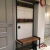 veshalka s polkoy v stile loft lv9